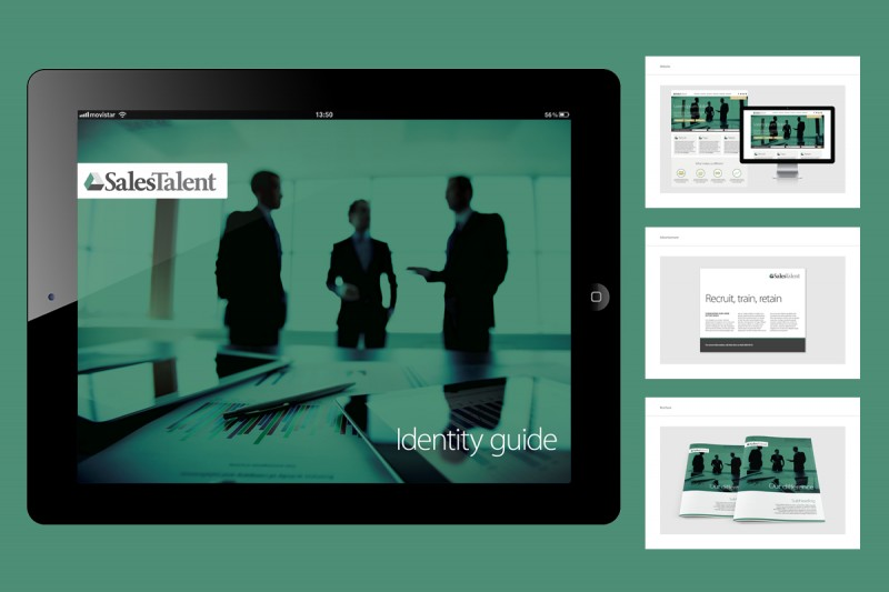 Identity and website design for Sales Talent, a recruitment and training company based in London.
