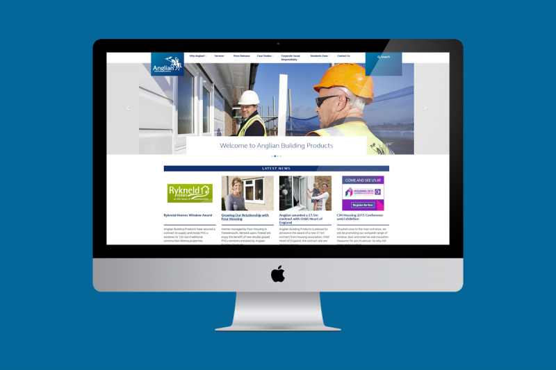 Website design and development for Anglian Building Products. Anglian Building Products is the large project division of Anglian Windows. The division specialises in providing a range of fenestration, doors and insulation services to a diverse range of markets. Anglian operates throughout the UK and has a turnover in excess of £200m and over 2400 employees.