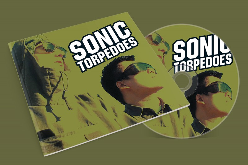 CD design for the Sonic Torpedoes, a London-based band.