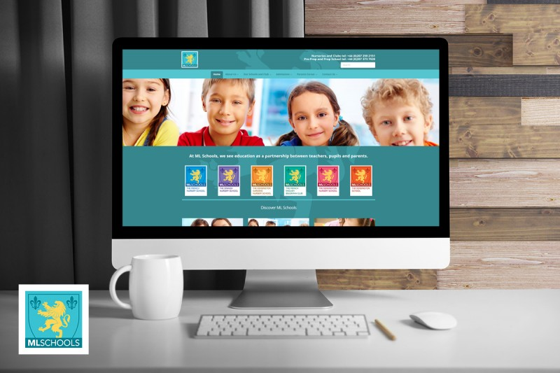 Website development and design for Marie Laurence, a group of schools and nurseries in London.