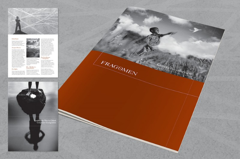 Brochure design for an international legal firm.