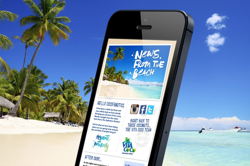 Email newsletter design for Vita Coco.