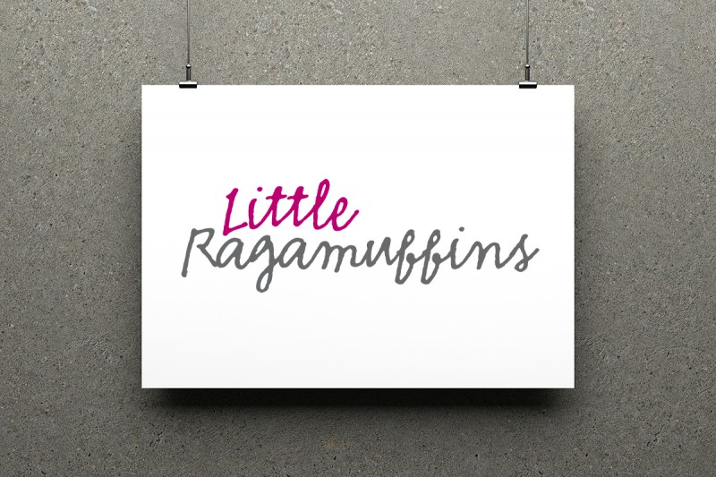 Identity for Little Ragamuffins, a children's website.