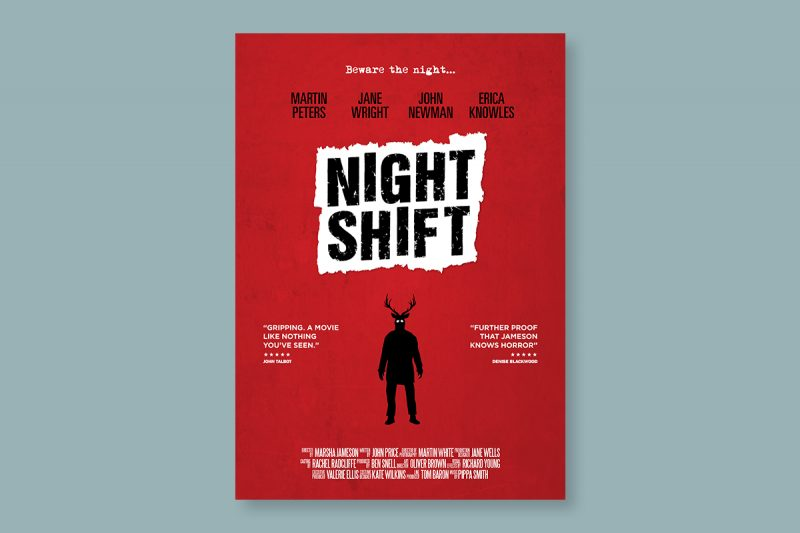 Poster design for Nightshift, a film produced in the UK.