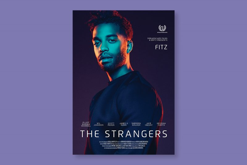 Poster design for The Strangers, a film produced in the UK.