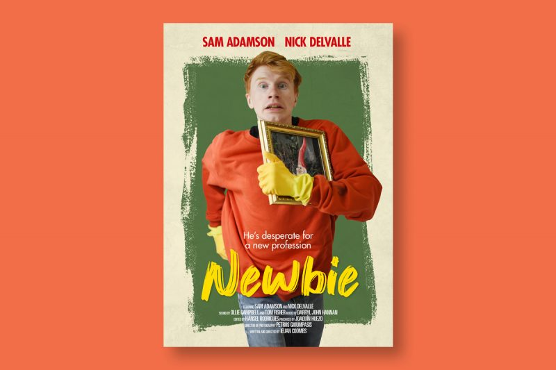 Poster design for Newbie, a short film produced in the UK.