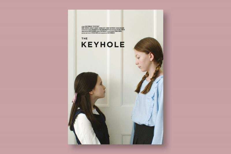 Poster design for The Keyhole, a short film produced in the UK.